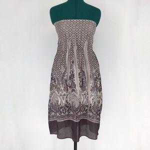 Lapis Shiny Sleeveless Elastic Top Dress, One Size